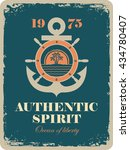 banner with an anchor and a... | Shutterstock .eps vector #434780407