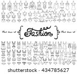 vector set with hand drawn... | Shutterstock .eps vector #434785627