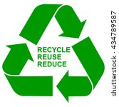 recycle reuse reduce green... | Shutterstock .eps vector #434789587