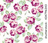 floral seamless pattern with... | Shutterstock .eps vector #434796343