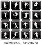 set of 16 soccer icons   Shutterstock .eps vector #434798773