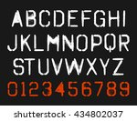 spray paint stencil font type... | Shutterstock .eps vector #434802037