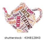 teapot  word cloud concept on... | Shutterstock . vector #434812843