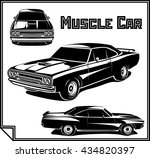 muscle car vector illustration | Shutterstock .eps vector #434820397