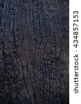 Small photo of Details Surface Pattern of the wood catches fire blacken the cracks of the bark surface