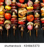 Grilled Vegetable And Meat...