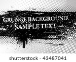 grunge background. vector. | Shutterstock .eps vector #43487041