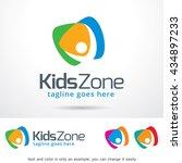 kids zone logo template design... | Shutterstock .eps vector #434897233