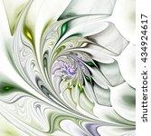 Exotic Flower. Multicolored...