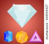 four minimalistic shiny gems  ...
