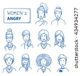 collection of angry women. set... | Shutterstock .eps vector #434934277