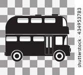 black double decker bus icon on ...