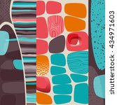abstract retro background ... | Shutterstock .eps vector #434971603