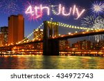 celebrating 4th of july in new... | Shutterstock . vector #434972743