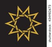 golden glittering logo symbol... | Shutterstock .eps vector #434982673