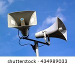 public address system of two... | Shutterstock . vector #434989033