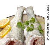Small photo of Canada Striped bass whole fresh fish, also called Atlantic striped bass, striper, linesider, rock or rockfish, product of Canada, isolated on white background.