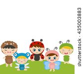 vector illustrations of kids...   Shutterstock .eps vector #435003883