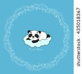 Cute Panda Lying On The Cloud...