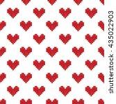 geek valentine's day pixel... | Shutterstock .eps vector #435022903
