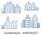 set of different hospital... | Shutterstock .eps vector #435024127