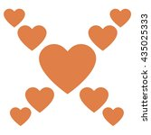 love hearts  a collection of... | Shutterstock .eps vector #435025333