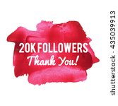 20k 20000 followers thank you... | Shutterstock .eps vector #435039913