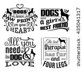 collection of  trendy quote... | Shutterstock .eps vector #435041317