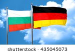 bulgaria flag with germany flag ... | Shutterstock . vector #435045073