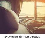bedroom in the morning  soft... | Shutterstock . vector #435050023