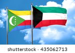 comoros flag with kuwait flag ... | Shutterstock . vector #435062713