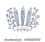 vector emblem template with... | Shutterstock .eps vector #435065593