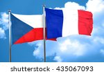 czechoslovakia flag with france ...   Shutterstock . vector #435067093