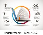 it communication   e learning   ... | Shutterstock .eps vector #435073867