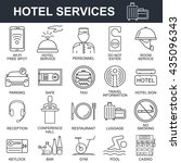 hotel icons set. | Shutterstock .eps vector #435096343