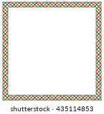decorative color square frame ... | Shutterstock .eps vector #435114853