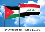 jordan flag with iraq flag  3d... | Shutterstock . vector #435116197
