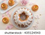 lemon pound cake | Shutterstock . vector #435124543