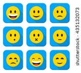 yellow smiley faces squared app ... | Shutterstock .eps vector #435132073