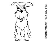 vector sketch funny dog... | Shutterstock .eps vector #435137143