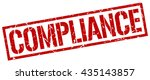 compliance stamp.stamp.sign... | Shutterstock .eps vector #435143857