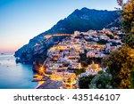 Night View Of Positano Village...
