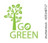go green logotype with a tree... | Shutterstock .eps vector #435148717