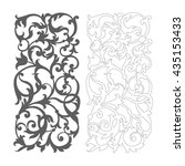 ornate vector floral pattern... | Shutterstock .eps vector #435153433