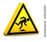 trip hazard yellow sign on a... | Shutterstock . vector #43516567