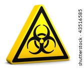 bio hazard yellow sign on a... | Shutterstock . vector #43516585