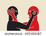 two robots trying to fix each... | Shutterstock .eps vector #435183187