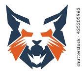 wild cat head   Shutterstock .eps vector #435205963