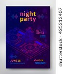 night party poster template.... | Shutterstock .eps vector #435212407