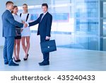 full length image of two... | Shutterstock . vector #435240433